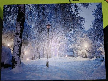Paveikslas žiema 4 šviečiantis