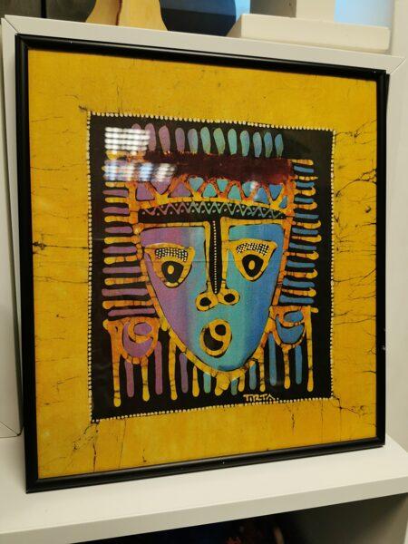 Ant šilko tapytas rankų darbo paveikslas